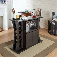 Home Bar Furniture Set Buffet Table With Wine Rack Servers Cabinet Mini Bar NEW