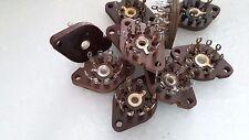 12 pcs 9 PIN   Bakelite Wafer  TUBE Socket  B9A NOVAL Silver 12AX7  ECC83  E88CC