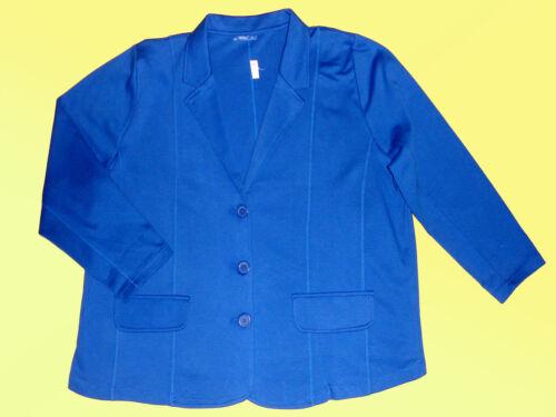Blazer sportliche Jacke Damenjacke Shirtblazer Übergröße 5 XL  blau