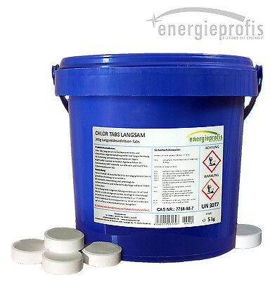 10 kg (2 x 5 kg) Chlor Tabs langsam löslich 200 g Chlortabletten