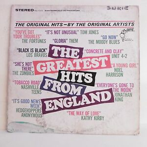 33T-GREATEST-HITS-FROM-ENGLAND-Vinyle-LP-MORRISON-KING-ZOMBIES-THEM-LOS-BRAVOS