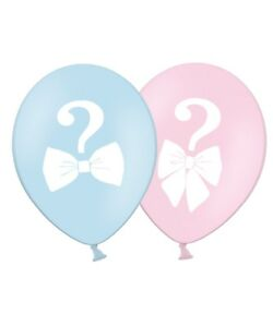Gender-Reveal-New-Baby-12-034-Printed-Latex-Balloons-Asst-5-ct-By-Party-Decor