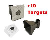 14CM STEEL TARGET HOLDER + 10 TARGETS AIR RIFLE PELLET TRAP SHOOTING AIRSOFT