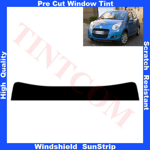 Pre Cut Window Tint Sunstrip for Suzuki Alto 5 Doors Hatch 2009-... Any Shade