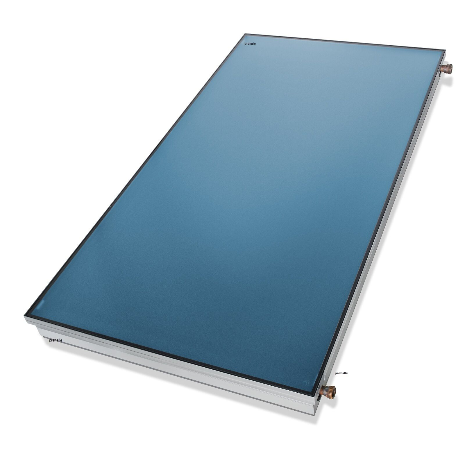 1A PRE 7,02m² Flachkollektor Solar Anlage + Solarspeicher 500L emailliert, 2 WT