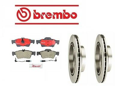 Rear Rotors with Pads Brake KIT Brembo For: Mercedes Benz W211 E320 2003 - 2006