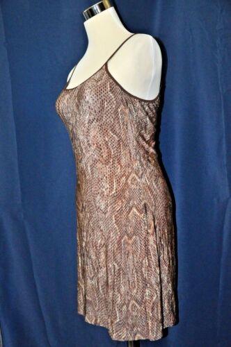 Details about  /Olga snake print chemise cami sleep top shirt brown 36 M #12209