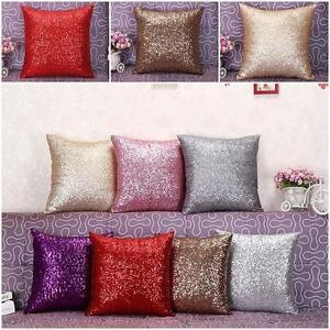 40x40cm taie d 39 oreiller paillette housse de coussin sofa lit maison voiture ebay for Housse de sofa