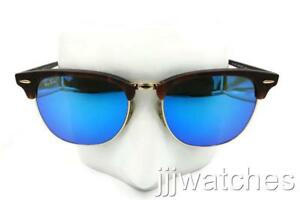 be10d70709 Image is loading Ray-Ban-Clubmaster-Matte-Tortoise-Sunglasses-Blue-Flash-