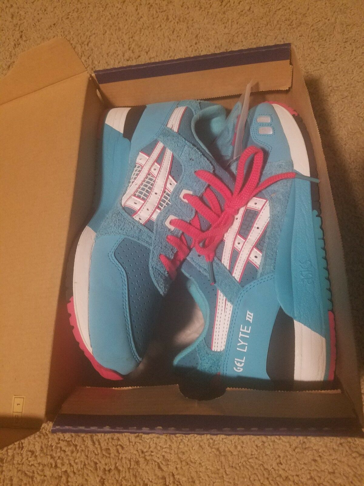 ASICS GEL LYTE III TEAL DRAGON size 8