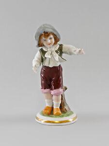 9997041-Porcelain-Figurine-Thuringian-Bauern-Junge-Ernst-Bohne-H17cm