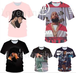 Men-Women-Short-Sleeve-Tee-Top-Hot-Rapper-Nipsey-Hussle-3D-Print-Casual-T-Shirt