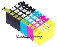 10PK BK & Color Ink For Epson 124 Stylus NX125 NX127 NX130 NX230 NX330 NX420 430