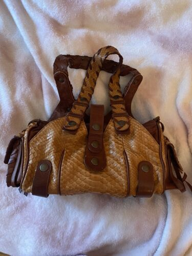 Chloe Silverado Python Bag