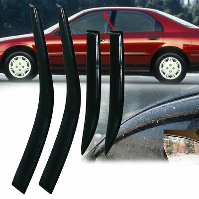Smoke Sun//Rain Guard Vent Shade Window Visors for Honda Accord 1994-1997 Sedan
