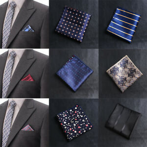 Men Paisley Retro Handkerchief Polka Dots Striped Men/'s Hankies Square Suit