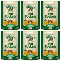 (6) Greenies Pill Pockets For Cats. Chicken Flavor. 1.6oz