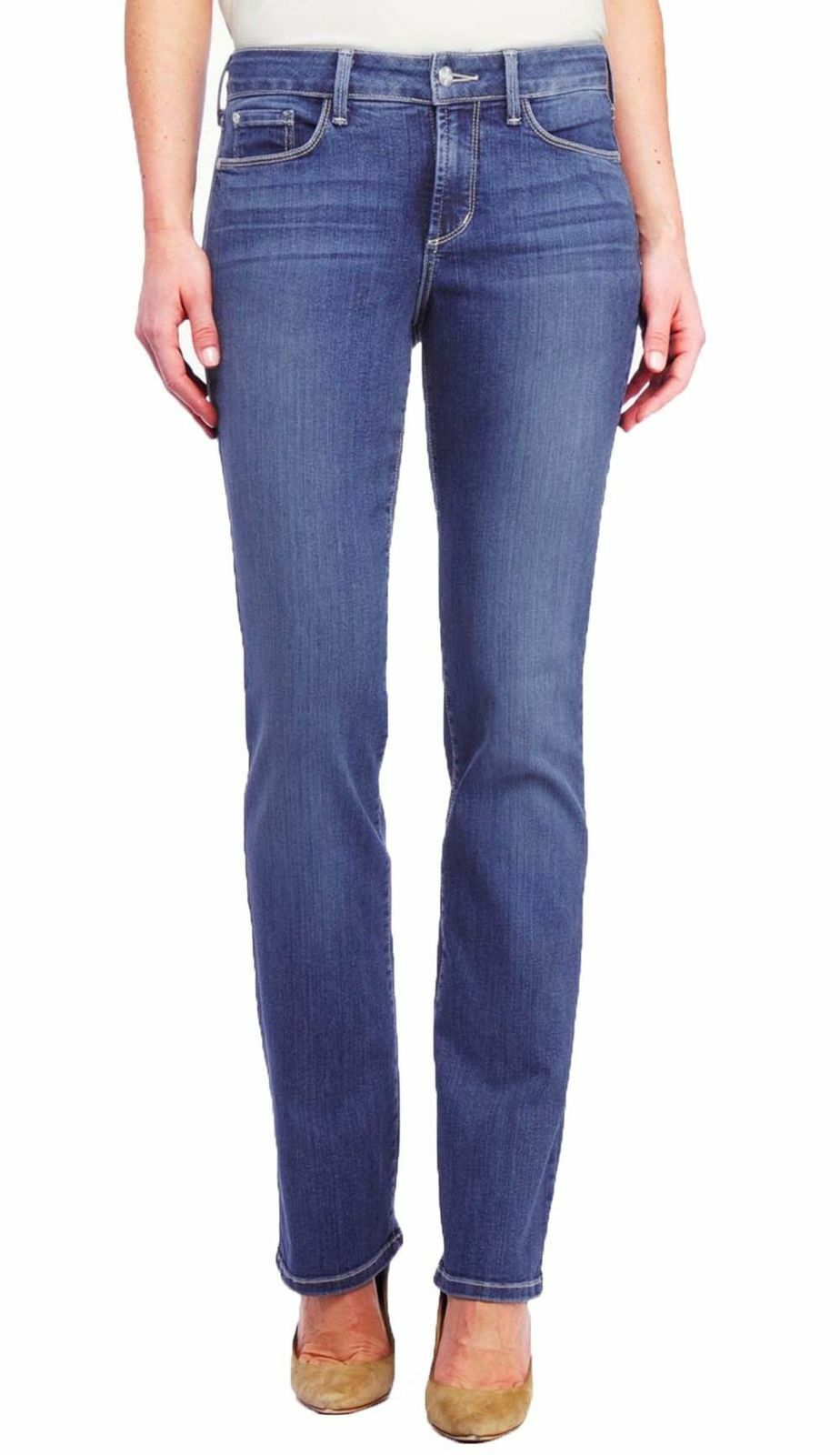 NYDJ Not Your Daughters Jeans Marilyn Straight Leg in Heyburn - Size 8 Petite
