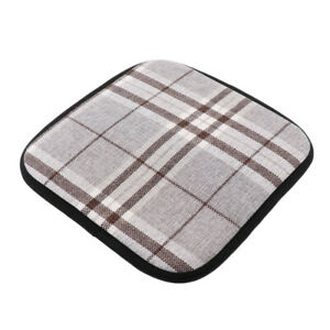Linen Cotton Kitchen Chair Cushion Dining Chair Pads with ...