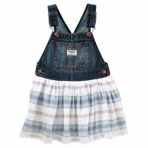 New-OshKosh-B-039-gosh-Toddler-Girl-Denim-Jumper-Dress-Choose-Size-MSRP-36-00