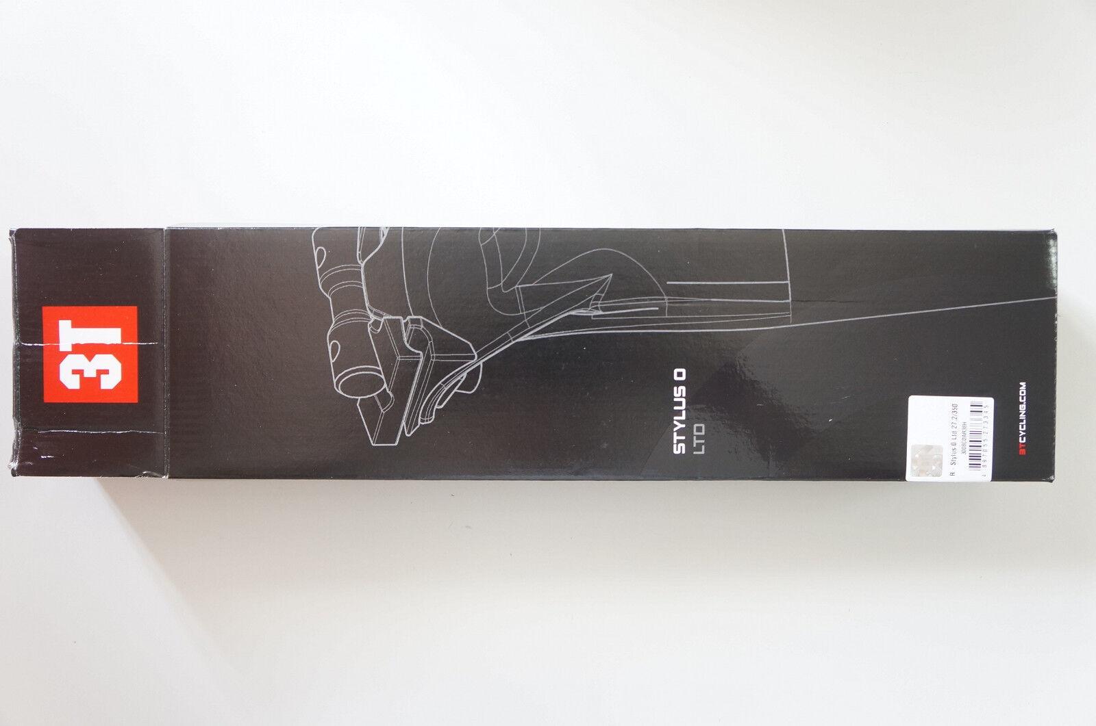 3t Stylus LTD Tija de sillín CocheBONO 27.2mm 350mm UD Gloss Negro NUEVO  801