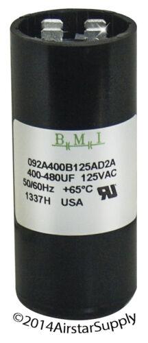 USA IMC motor start Capacitor Nº 092A400B125AD2A 400-480 UF X 110//125 Vac