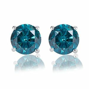 3-00CT-Round-Blue-Diamond-14K-White-Gold-Over-Stud-Earrings-Cyber-Monday