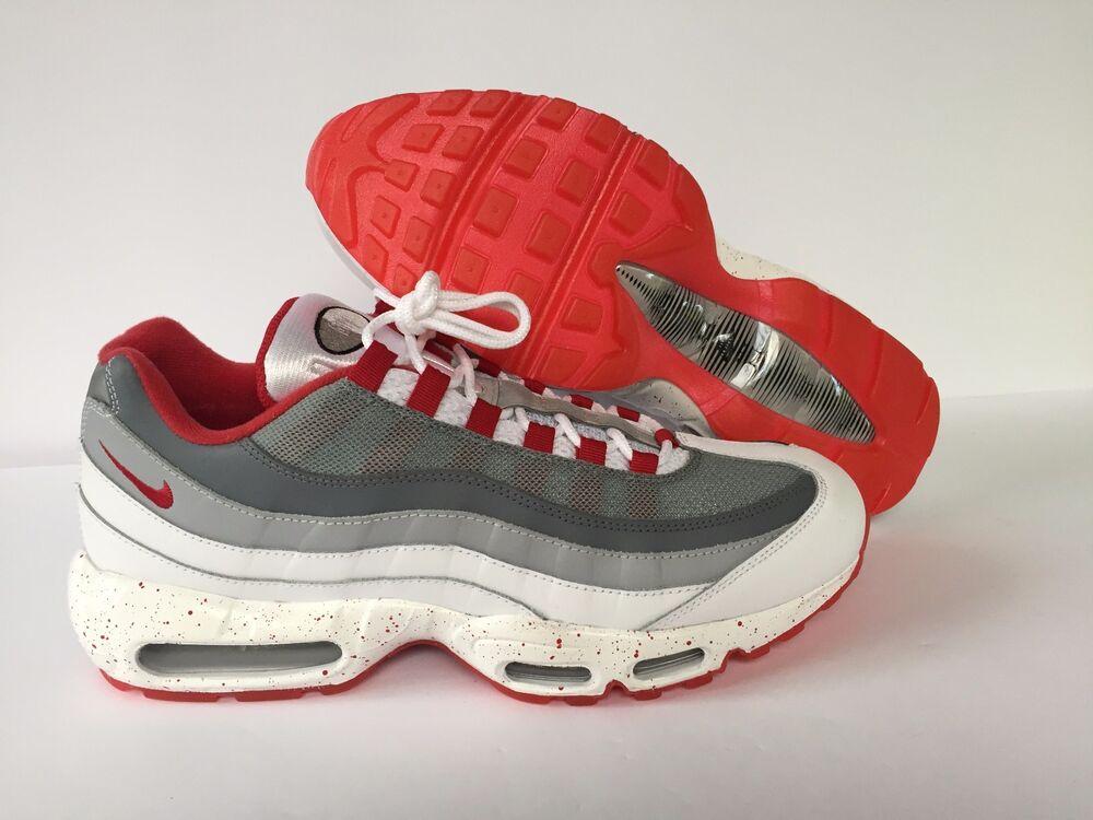 NIKE ID AIR MAX 95 BLANC/Gris/Red 818592 993 Homme  Chaussures de sport pour hommes et femmes