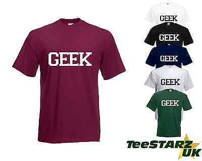 Geek T Shirt Nerd Boffin Dork College School Leavers Indie Urban Hipster Apparel