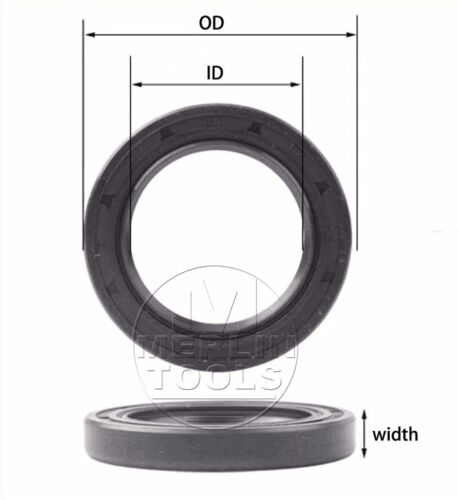 19 - 20mm TC Double Lip Rubber Rotary Shaft Oil Seal with Spring [CAPT2011]
