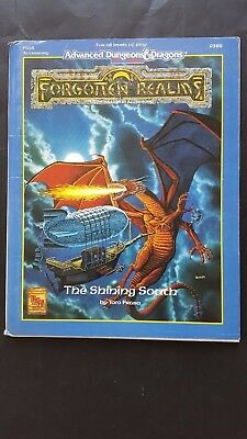 """FORGOTTEN REALMS """" The SHINING SOUTH """" AD&D 2nd Ed FR16 Complete w Map #9388 VNC"""