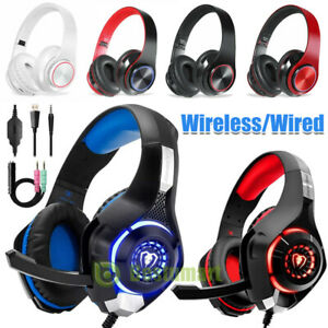 Pro-Gaming-Headset-LED-For-PS4-XBOX-One-Wireless-Wired-Headphone-Microphone-Beat