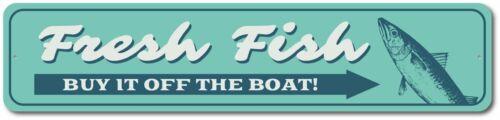 Fish Decor Fresh Fish Sign Fisherman Gift Aluminum Sign ENSA1003262