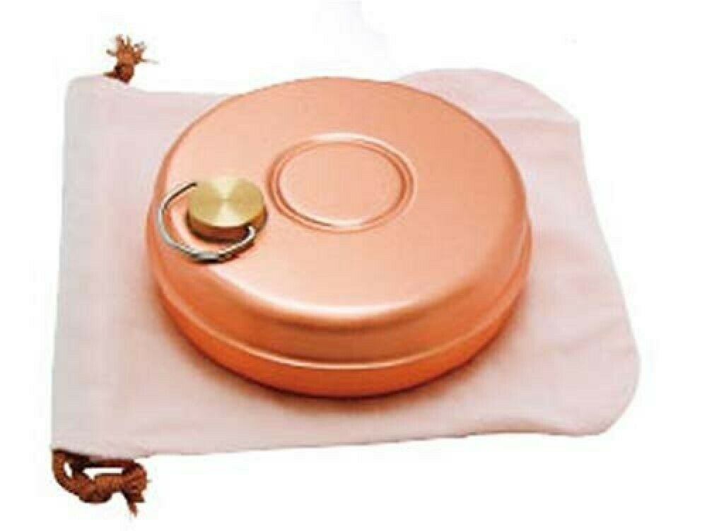 Pure Copper Japanese Yutanpo Hot-water Bag Small Bed Warmer Goods S-9397