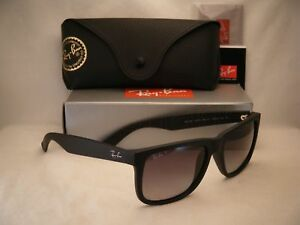6cd01f494fe Ray Ban 4165 Justin Matte Black w Grey Gradient Polar Lens (RB4165 ...