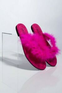 Cape-Robbin-Gale-Black-Feather-Furry-Flat-Thong-Flip-Flop-Fashion-Slide-Sandals