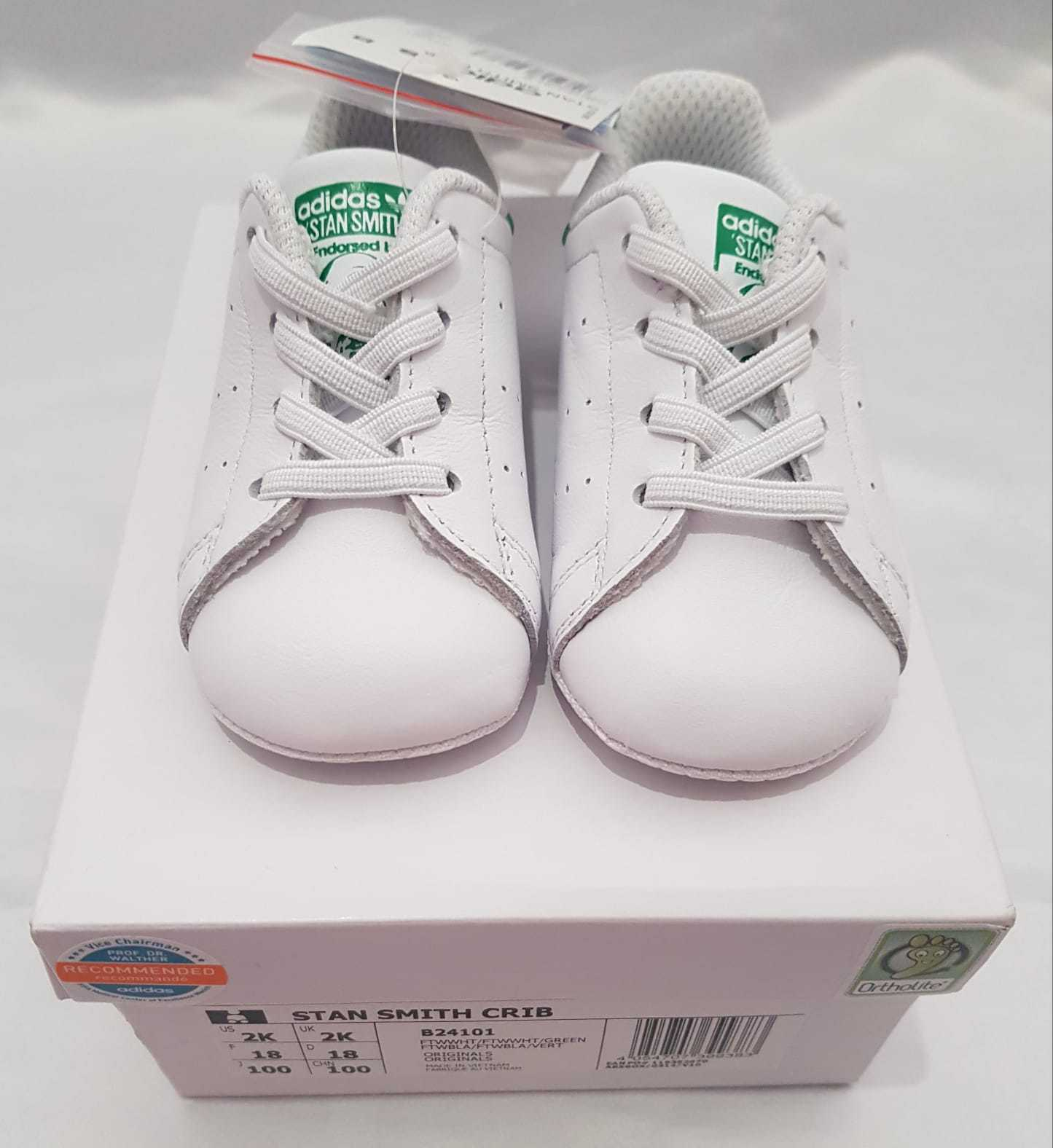 ADIDAS ORIGINALS STAN Smith Crib Shoes Baby Infant Girls Trainers B24101