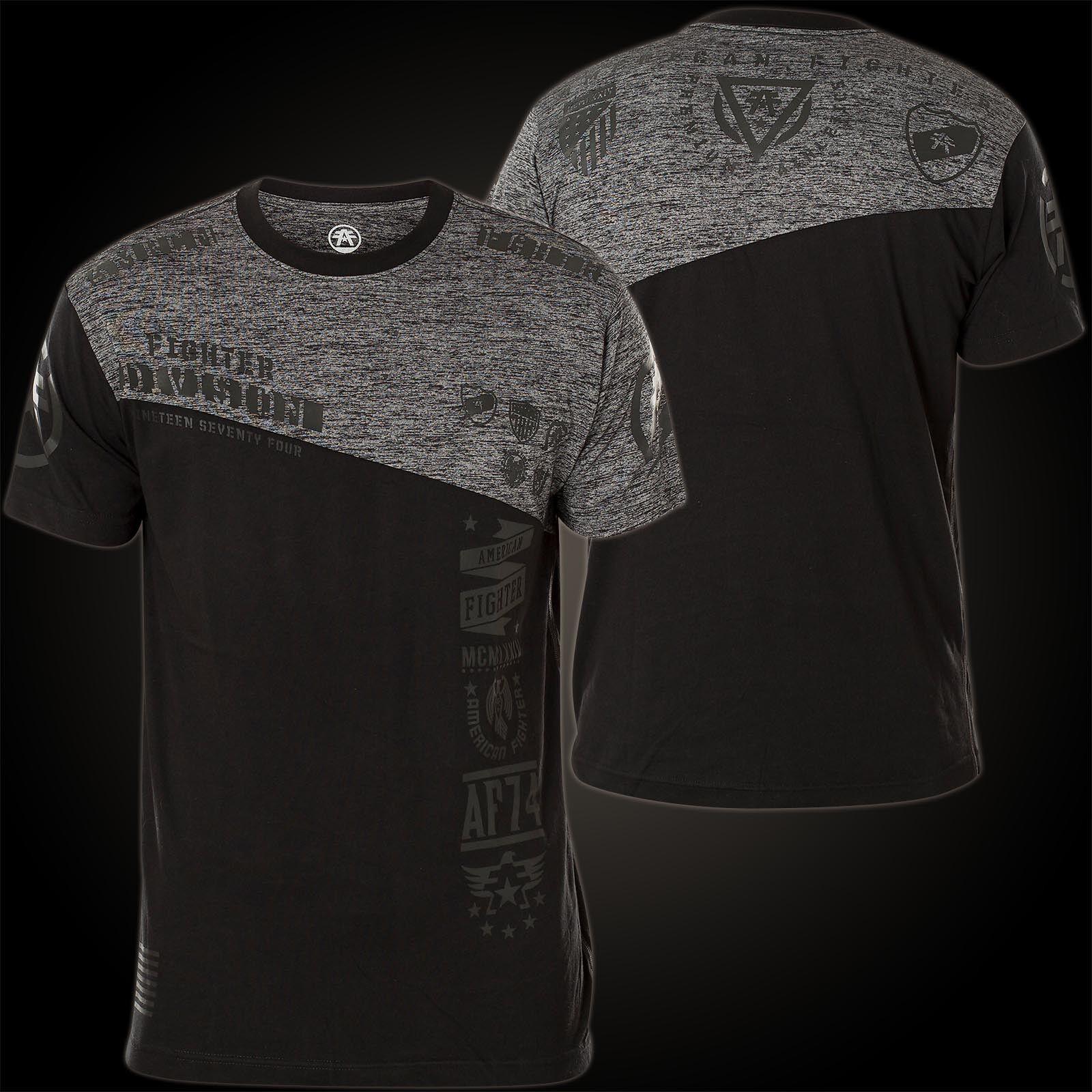 AMERICAN FIGHTER Affliction T-Shirt Harrison Schwarz/Grau T-Shirts