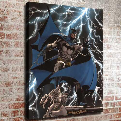 "12/""x16/""Stone carve and batman HD Canvas print Painting Home decor Room Wall art"