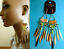 thumbnail 1 - TOPSHOP LONG EARRINGS BEADED TASSEL SPIKE AZTEC STATEMENT EARRINGS BRAND NEW
