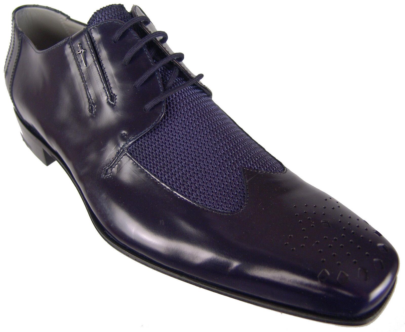design unico Authentic  870 Cesare Paciotti Navy Oxfords Oxfords Oxfords US 8 Italian Designer scarpe  divertiti con uno sconto del 30-50%