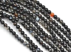 2mm-Negro-Gris-Marron-Agata-Espaciadores-Cuentas-Piedras-1-Cuerda