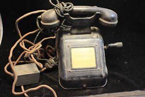 Vecchio-Ufficio-Pratica-Telefono-Nero-Collettore-Deco-Pezzi-Tecnica-Post-31A4