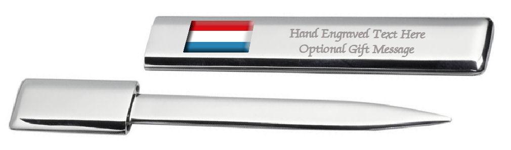 Luxembourg Drapeau Engraved Post Lettre Bottle Opener Étui