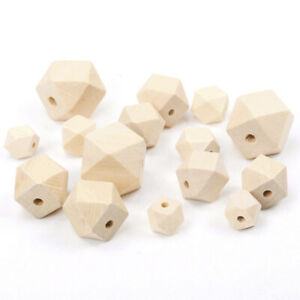 Natural Untreated Plain Round Wooden Wood Bead with Hole Ball Jewellery 10mm