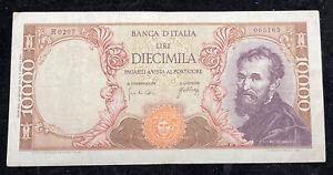BANCONOTA- REPUBBLICA ITALIANA - 10000 lire MICHELANGELO (20 Maggio 1966)