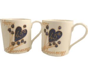293ed3106 45th Wedding Anniversary Gift China Mugs (Pair) 5060375070805