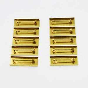 10-X-Medal-Ribbon-Mounting-Bars-Brooch-Pin-Fixing-for-35-36-37-38mm-Ribbon