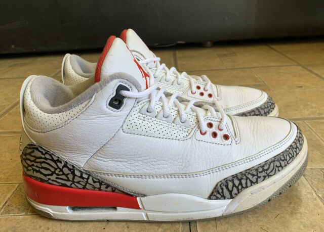 Reductor Apoyarse calor  Men's Nike Air Jordan 3 III Retro Katrina Hall of Fame White Sz 11.5 136064  116 for sale online | eBay