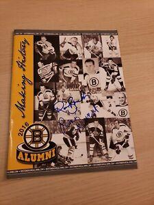 2016 Boston Bruins Alumni Program w/ 17 Autographs Signatures Signed